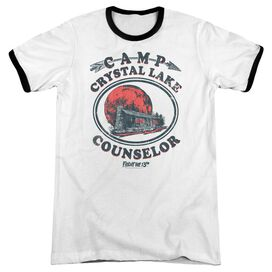 Friday The 13 Th Camp Counselor Adult Ringer White Black