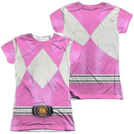 Power Rangers Pink Ranger (Front Back Print) Short Sleeve Junior Poly Crew T-Shirt