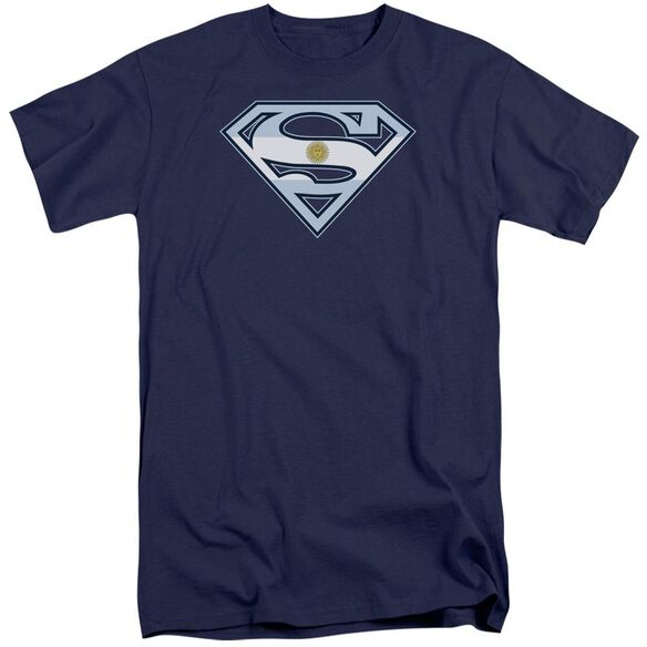 Superman Argentinian Shield Short Sleeve Adult Tall T-Shirt