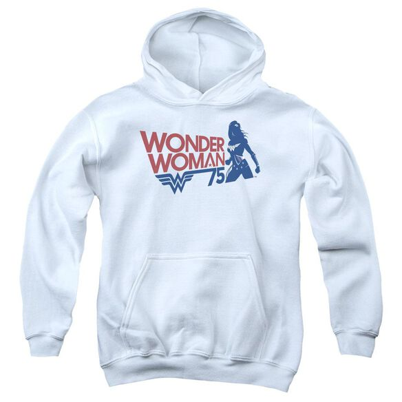 Wonder Woman Ww75 Silhouette Youth Pull Over Hoodie