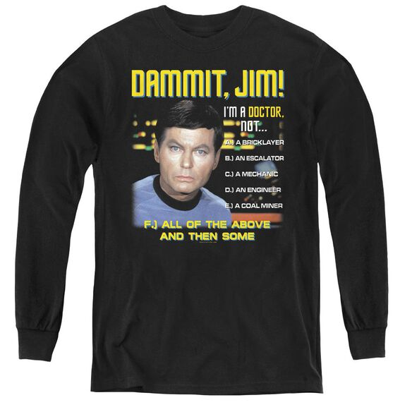 Star Trek All Of The Above - Youth Long Sleeve Tee - Black