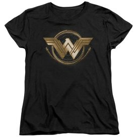 Wonder Woman Movie Lasso Logo Short Sleeve Womens Tee T-Shirt