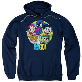 Teen Titans Go Go Go Group Adult Pull Over Hoodie