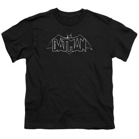 Beware The Batman B&W Logo Short Sleeve Youth T-Shirt