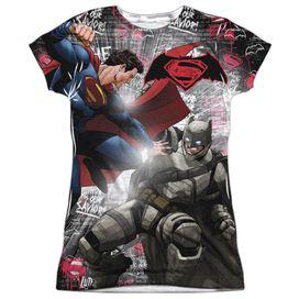 Batman V Superman Showdown Short Sleeve Junior Poly Crew T-Shirt