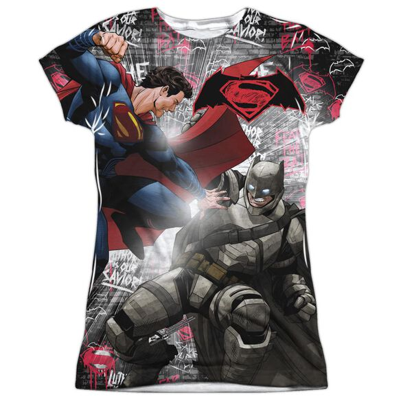 Batman V Superman Showdown Short Sleeve Junior Poly Crew T-Shirt