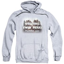 Twin Peaks Welcome To Adult Pull Over Hoodie Athletic