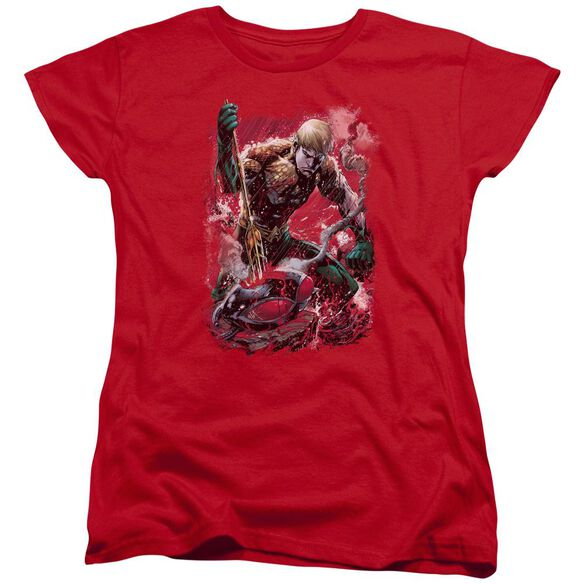 Jla Finished Short Sleeve Womens Tee T-Shirt