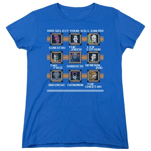 Dc Stage Select Short Sleeve Womens Tee Royal T-Shirt