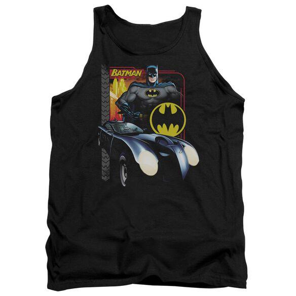 Batman Bat Racing - Adult Tank - Black