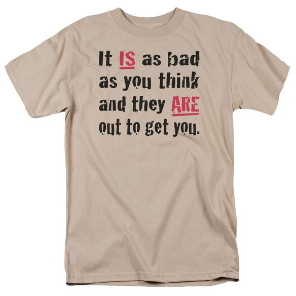 It Is As Bad As You Think Short Sleeve Adult Sand T-Shirt