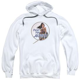 Wonder Woman Movie Fight For Justice Adult Pull Over Hoodie