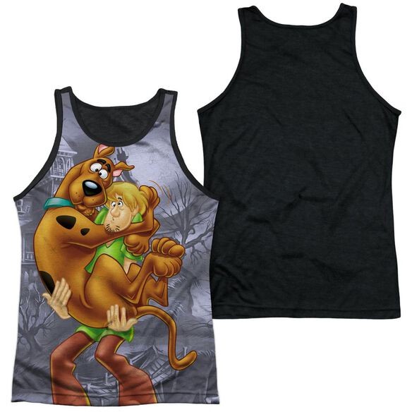 Scooby Doo Scooby And Shaggy Adult Poly Tank Top Black Back