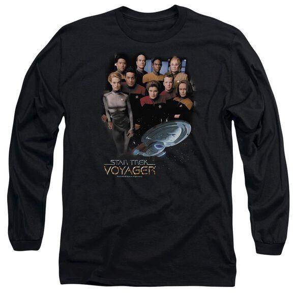 Star Trek Voyager Crew Long Sleeve Adult T-Shirt