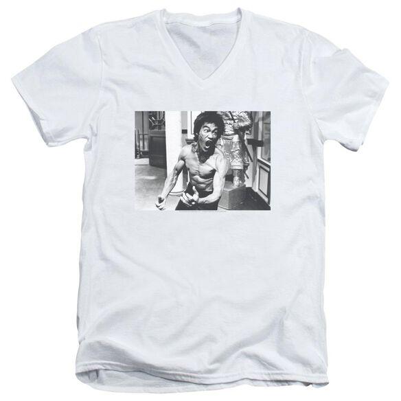 Bruce Lee Full Of Fury Short Sleeve Adult V Neck T-Shirt