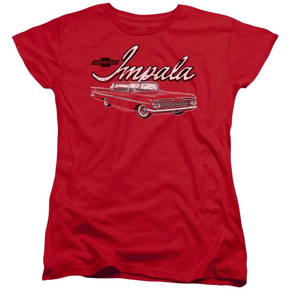 Chevrolet Classic Impala Short Sleeve Womens Tee T-Shirt