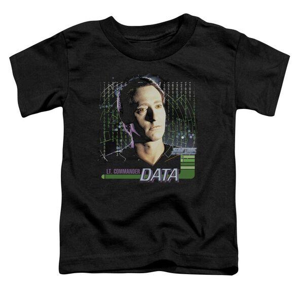 Star Trek Data Short Sleeve Toddler Tee Black Md T-Shirt