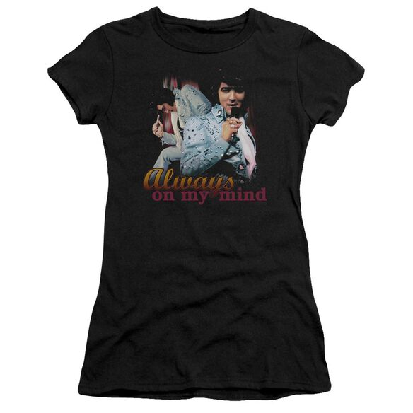 Elvis Always On My Mind Short Sleeve Junior Sheer T-Shirt