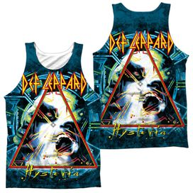 Def Leppard Hysteria (Front Back Print) Adult Poly Tank Top