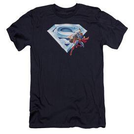 Superman Superman & Crystal Logo Premuim Canvas Adult Slim Fit