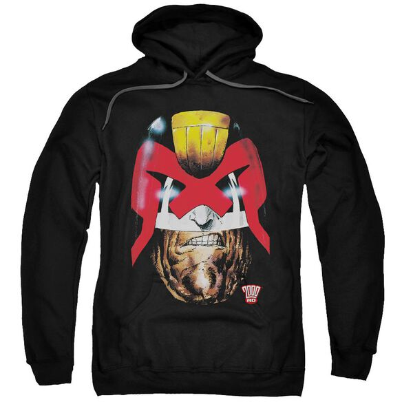 Judge Dredd Dredds Head Adult Pull Over Hoodie Black