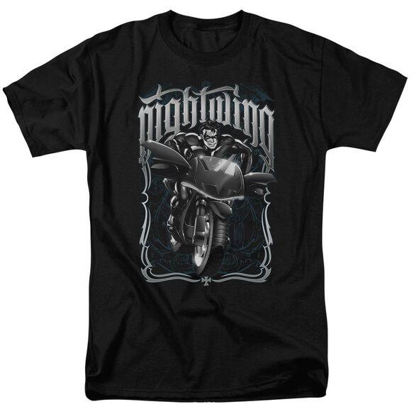 Batman Nightwing Biker Short Sleeve Adult T-Shirt