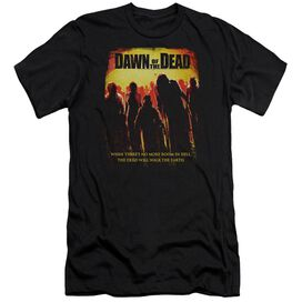 DAWN OF THE DEAD TITLE - S/S ADULT 30/1 - BLACK - MD - BLACK T-Shirt