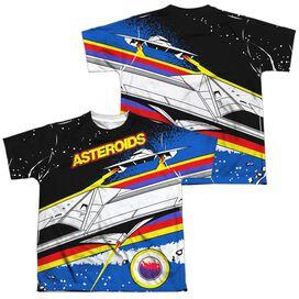 Atari Asteroids Arcade (Front Back Print) Short Sleeve Youth Poly Crew T-Shirt