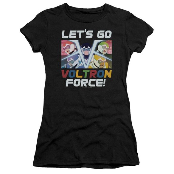 Voltron Lets Go Short Sleeve Junior Sheer T-Shirt