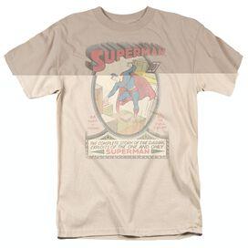 DC SUPERMAN 1 DISTRESSED - S/S ADULT 18/1 - CAROLINA BLUE T-Shirt