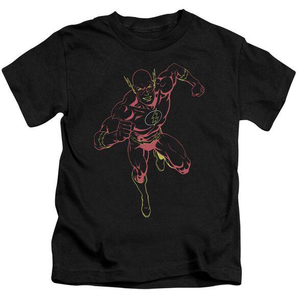 Jla Neon Flash Short Sleeve Juvenile Black T-Shirt