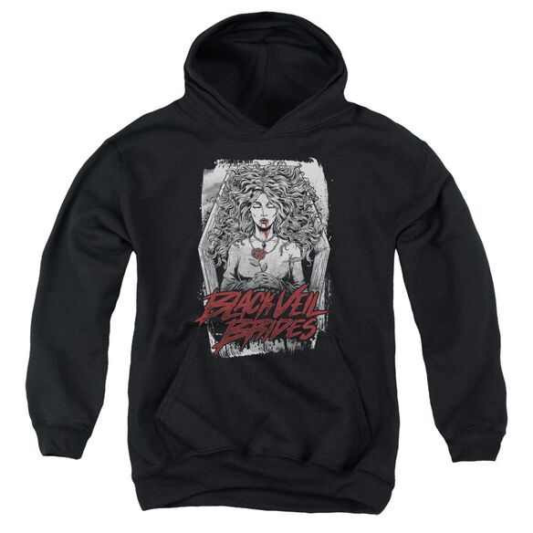 Veil Brides Coffin Queen Youth Pull Over Hoodie