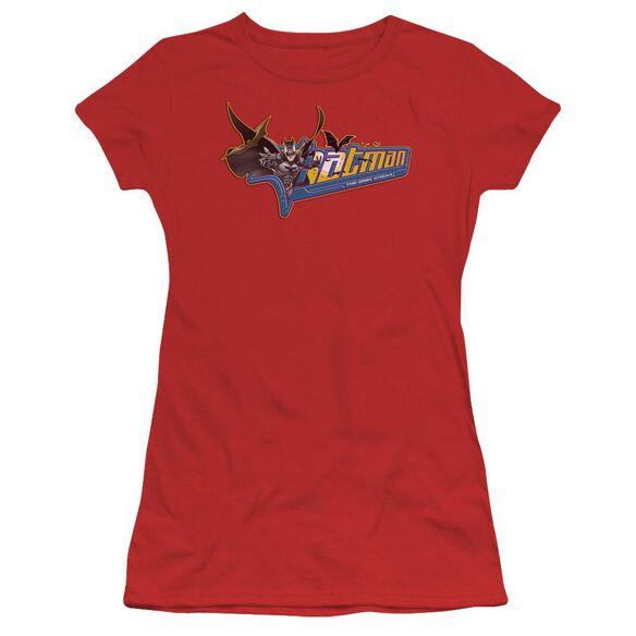 Dark Knight Patch Short Sleeve Junior Sheer T-Shirt