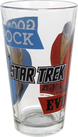 Star Trek Good Evil Spock Pint Glass