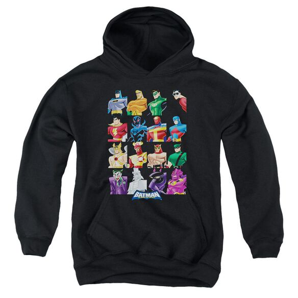 Batman Bb Cast Of Characters Youth Pull Over Hoodie