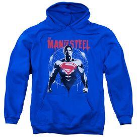 Batman V Superman Super Spray Adult Pull Over Hoodie Royal