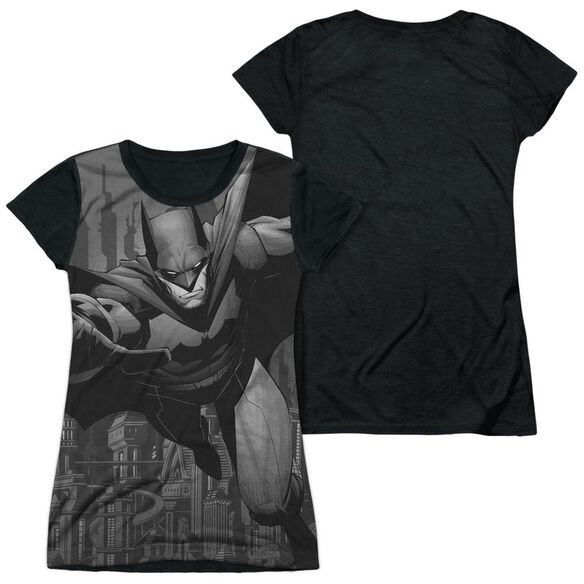 Batman Grey Race Short Sleeve Junior Poly Black Back T-Shirt