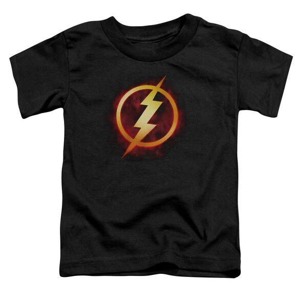 Jla Flash Title Short Sleeve Toddler Tee Black T-Shirt