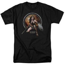 Batman V Superman Batlle Zone Short Sleeve Adult Black T-Shirt