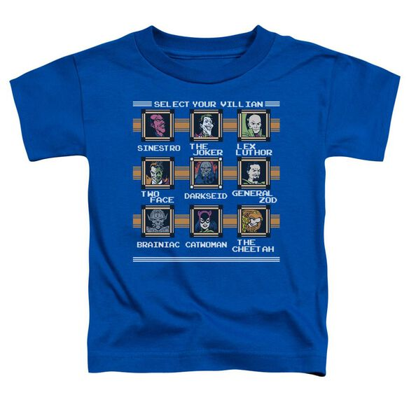 Dc Stage Select Short Sleeve Toddler Tee Royal Blue Lg T-Shirt