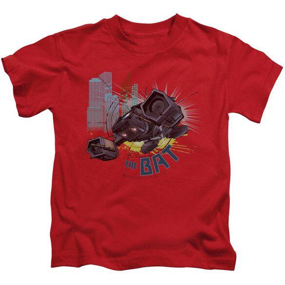 Dark Knight Rises The Bat Short Sleeve Juvenile Red T-Shirt