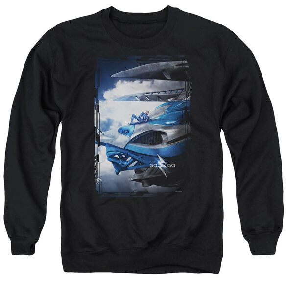Power Rangers Blue Zord Poster Adult Crewneck Sweatshirt
