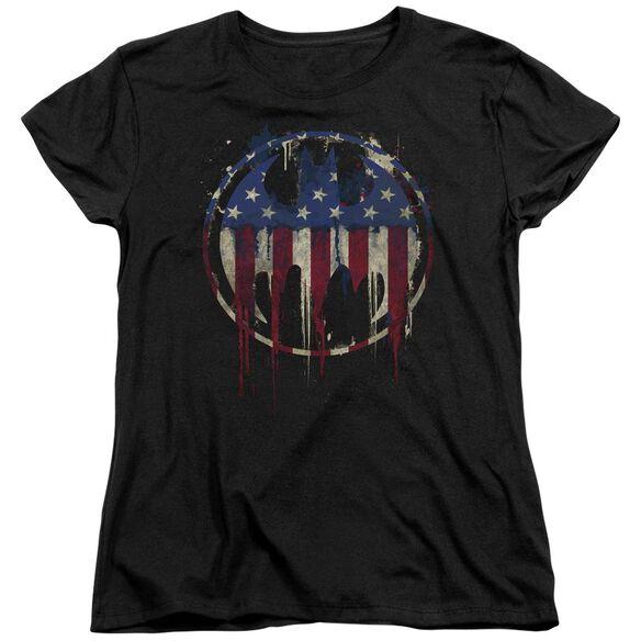 Batman Bleeding Signal Short Sleeve Womens Tee T-Shirt