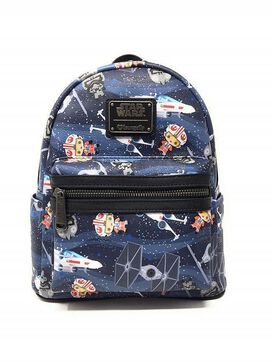 Loungefly Star Wars Chibi Ships Mini Backpack