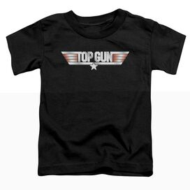TOP GUN LOGO - S/S TODDLER TEE - BLACK - T-Shirt