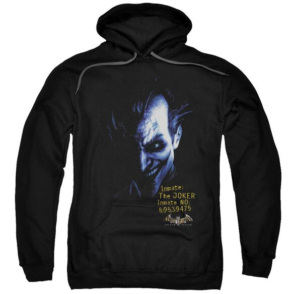 Batman Aa Arkham Joker Adult Pull Over Hoodie Black