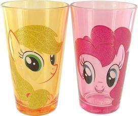 My Little Pony Glitter Hair Pint Glass Set