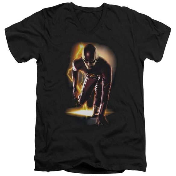 The Flash Ready Short Sleeve Adult V Neck T-Shirt