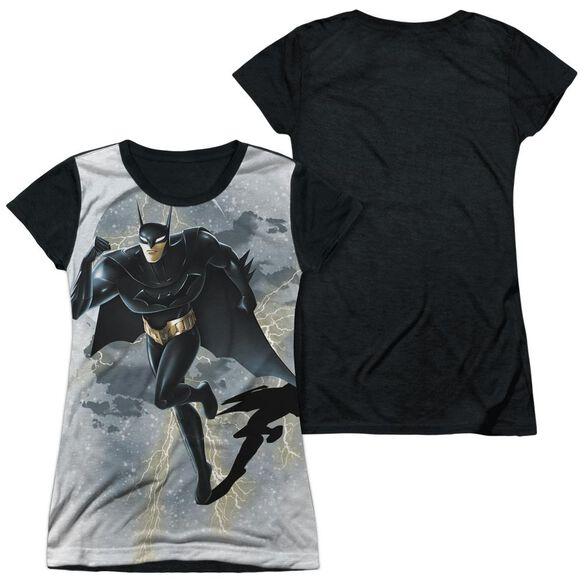 Beware The Batman Storm Sprint Short Sleeve Junior Poly Black Back T-Shirt