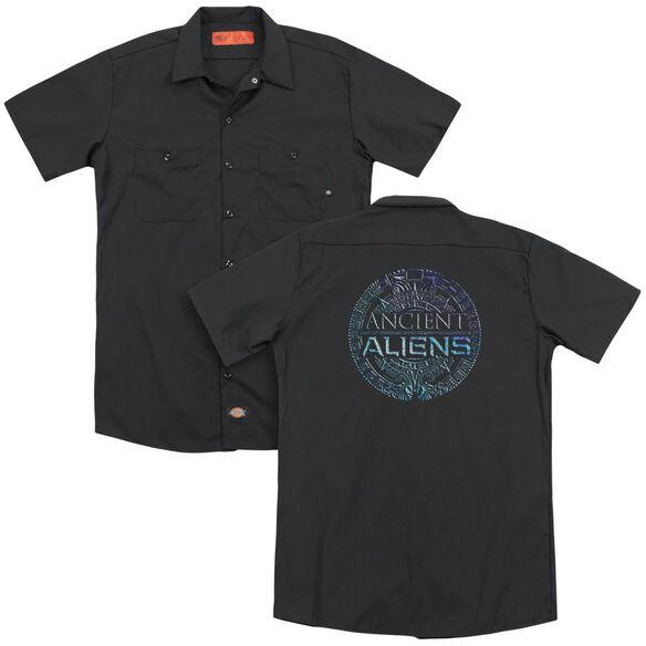 Ancient Aliens Symbol Logo (Back Print) Adult Work Shirt